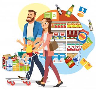 کسب و کار در روستا و سوپرمارکت