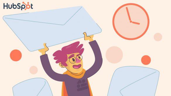 بهترین زمان برای ارسال ایمیل به روش هاب اسپات