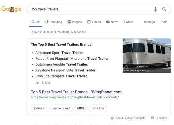اهمیت نشانه گذاری فهرست در جستجوی گوگل