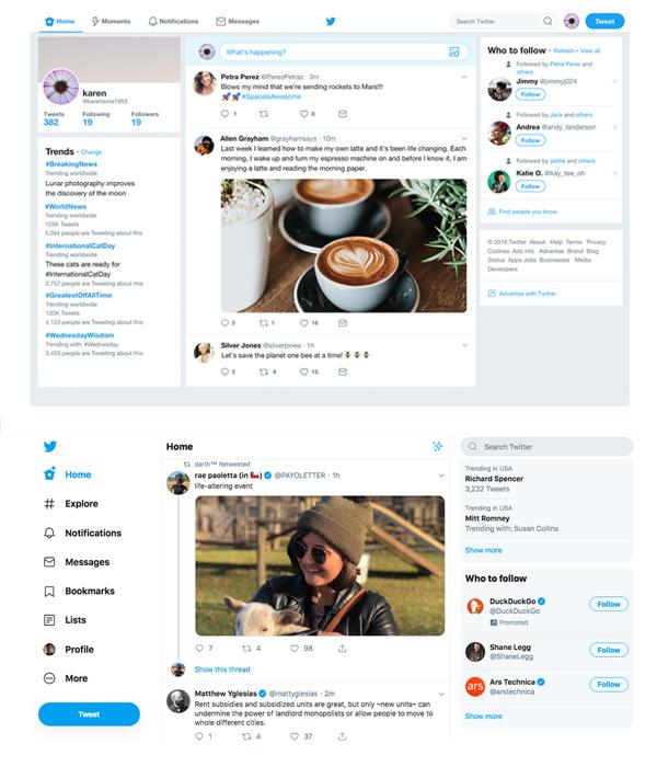 طراحی لوگو و رابط کاربری توییتر