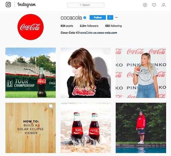 استراتژی برندسازی کوکا کولا در اینستاگرام