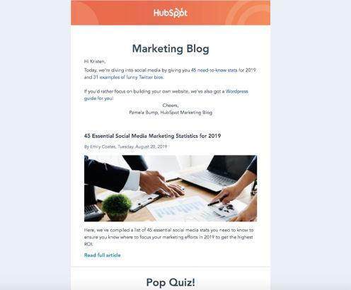 طراحی ایمیل حرفهای هاب اسپات