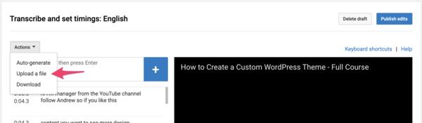بارگزاری زیرنویس در یوتیوب